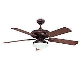 Concord Fans Linden 52-Inch Single-Light Indoor/Outdoor Ceiling Fan in Oil Rubbed Bronze