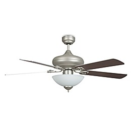 Concord Fans Valore Quick Connect 52-Inch Single-Light Indoor Ceiling Fan in Satin Nickel