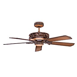 Concord Fans Ponderosa 52-Inch Indoor/Outdoor Ceiling Fan in Old World Leather