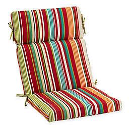 Destination Summer Stripe Outdoor High Back Chair Cushion