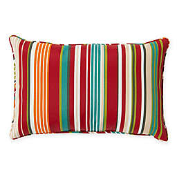 Destination Summer Stripe 13-Inch x 20-Inch Oblong Indoor/Outdoor Throw Pillow