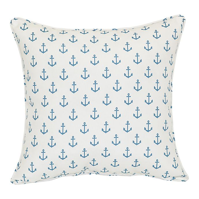 Alternate image 1 for Mini Anchor Square Indoor/Outdoor Throw Pillow in Ivory