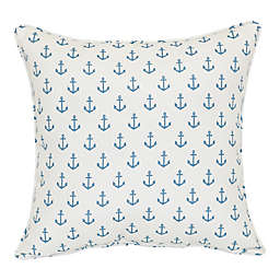 Mini Anchor Square Indoor/Outdoor Throw Pillow in Ivory