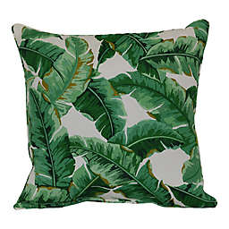 W Home™ Palm Leaf Square Indoor/Outdoor Throw Pillow in Green/White