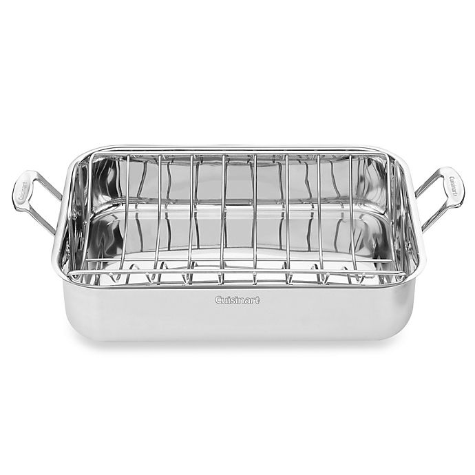 Alternate image 1 for Cuisinart® Chef's Classic 16-Inch Stainless Steel Roaster