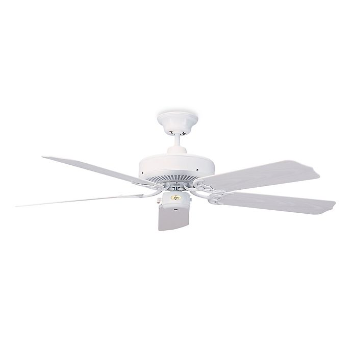 Alternate image 1 for Concord Fans Nautika 52-Inch Indoor/Outdoor Ceiling Fan in White