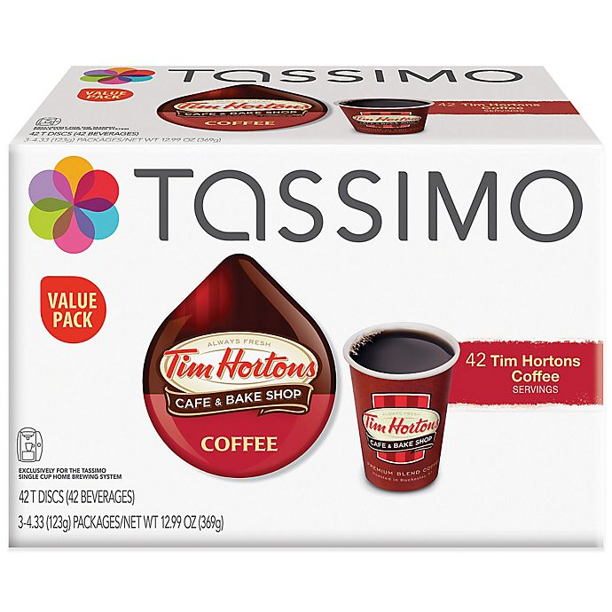 Alternate image 1 for Tim Hortons™ 42-Count Coffee T DISCs Value Pack for Tassimo™ Beverage System