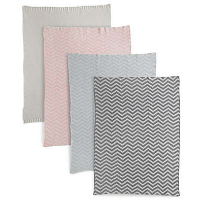 Living Textiles Baby Mix & Match Chenille Chevron Knit Blanket