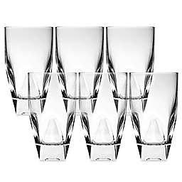 Lorren Home Trends Diamonte Highball Glass (Set of 6)