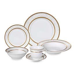 Lorren Home Trends Amelia Lace 24-Piece Dinnerware Set