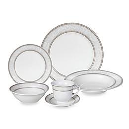 Lorren Home Trends Sirena Lace 24-Piece Dinnerware Set