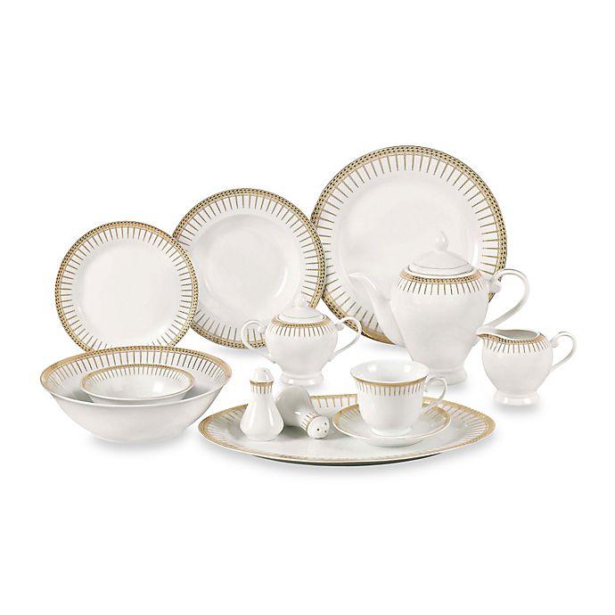 Alternate image 1 for Lorren Home Trends Aria 57-Piece Dinnerware Set