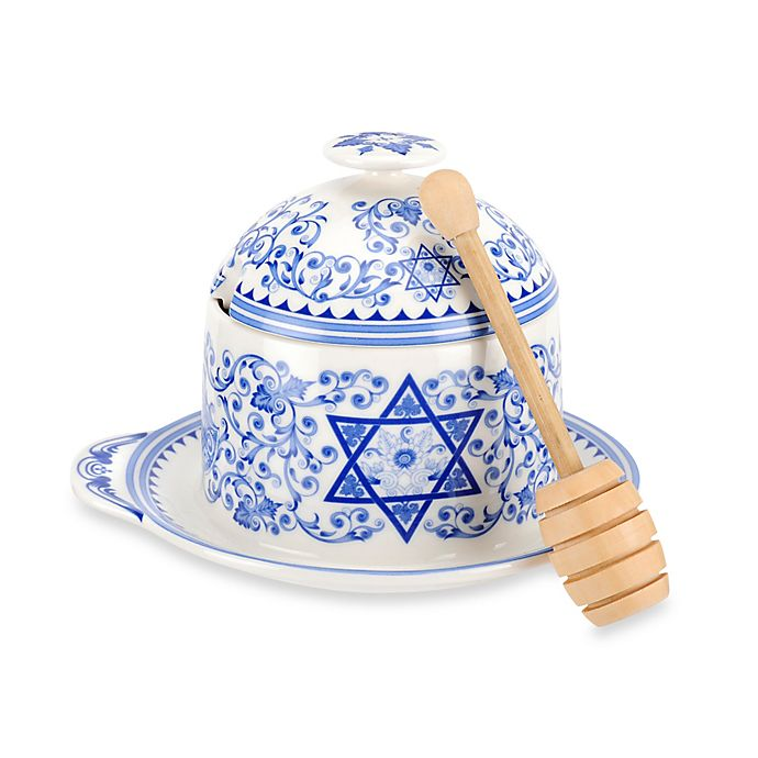 Alternate image 1 for Spode® Judaica Honey Pot with Drizzler