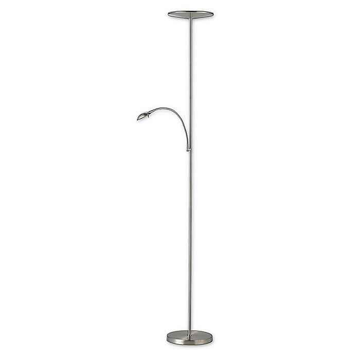 Alternate image 1 for Adesso® Pluto Satin Steel Combo Floor Lamp