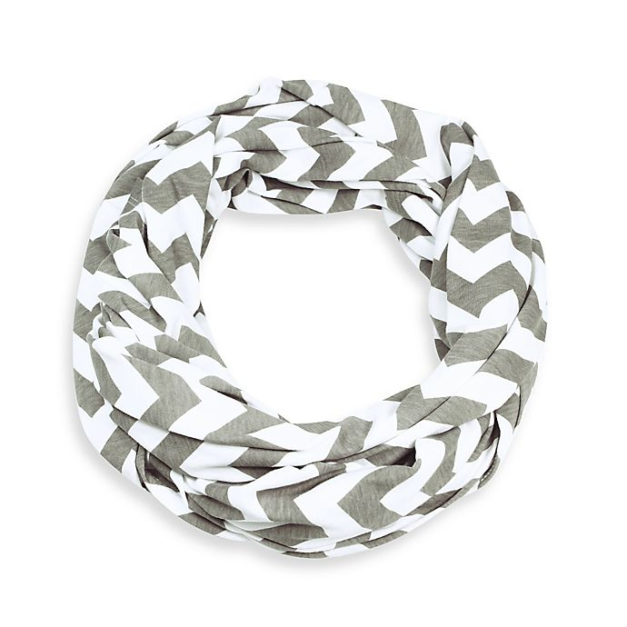 Alternate image 1 for Itzy Ritzy® Nursing Happens™ Infinity Breastfeeding Scarf in White/Taupe
