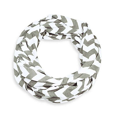 Itzy Ritzy® Nursing Happens™ Infinity Breastfeeding Scarf in White/Taupe