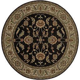 Karastan Ashara Agra 8-Foot 8-Inch Round Rug in Black