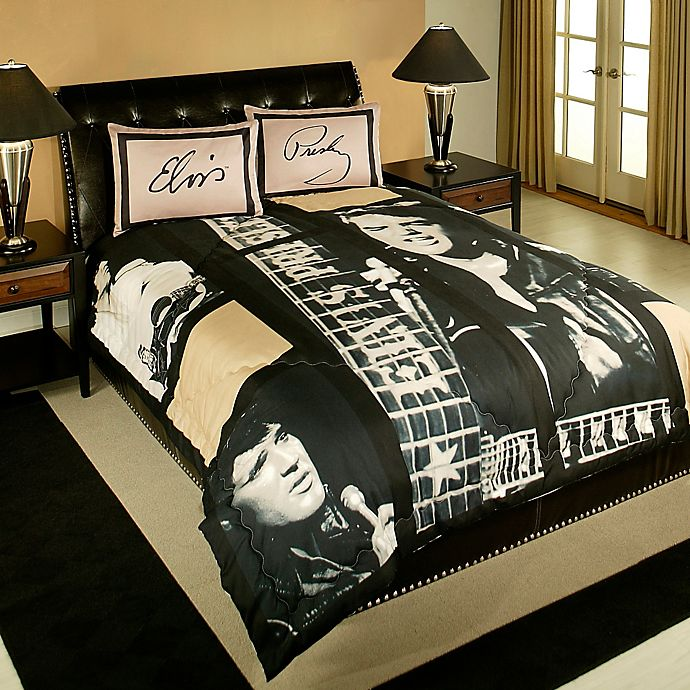 Elvis Presley Queen Comforter Set In