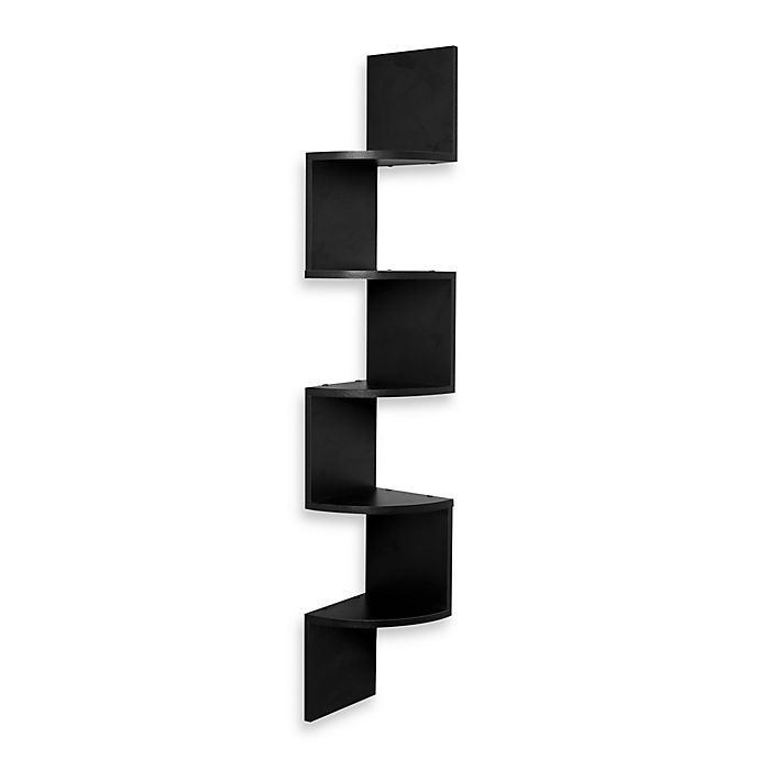 Zig Zag Five Level Corner Wall Mount Shelf View A Larger Version Of This Product Image