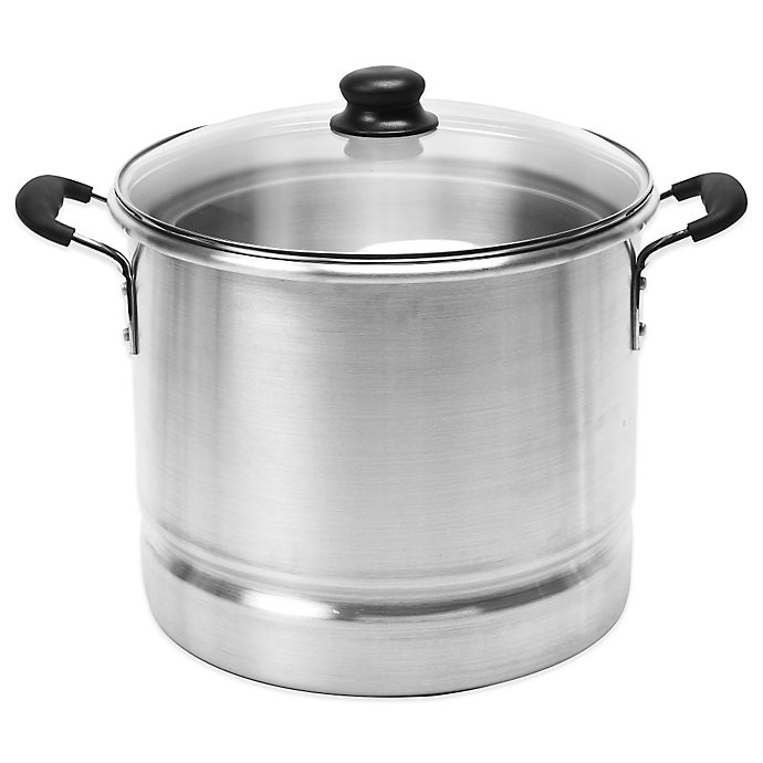 Alternate image 1 for IMUSA® 32-Quart Tamales/Seafood Steamer with Glass Lid