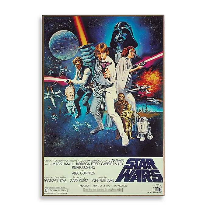 Star Wars Episode Iv Movie Poster Wall Decor Plaque Bed Bath Beyond
