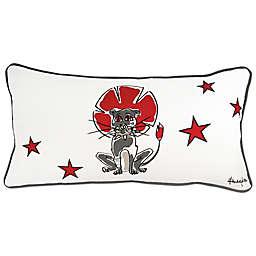 Rachel Kate Punk Rock Animal Boys Lion Oblong Throw Pillow