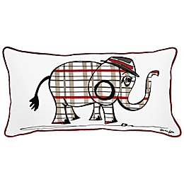 Rachel Kate Punk Rock Animal Boys Elephant Oblong Throw Pillow