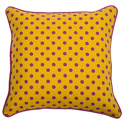Rachel Kate Jealla Girl 18-Inch Square Throw Pillow in Yellow