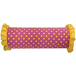 Rachel Kate Jealla Girl Oblong Throw Pillow in Yellow/Pink