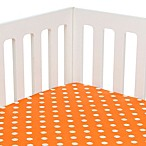 Glenna Jean Rhythm Fitted Crib Sheet in Orange Dot