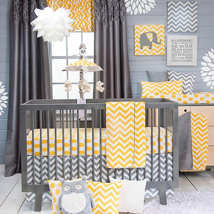 Alternate image 1 for Glenna Jean Swizzle 3-Piece Crib Bedding Set in Yellow