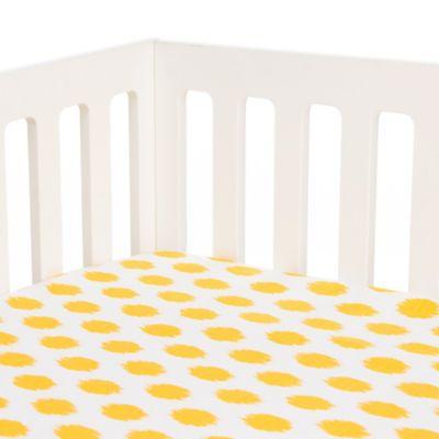 Glenna Jean Swizzle Fitted Crib Sheet In Yellow Dot