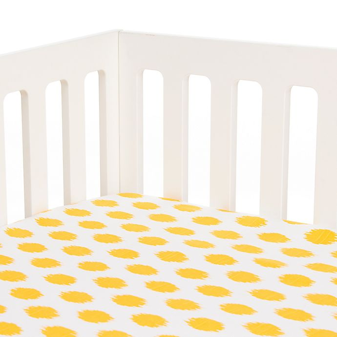 Alternate image 1 for Glenna Jean Swizzle Fitted Crib Sheet in Yellow Dot