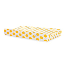 Glenna Jean Swizzle Changing Pad Cover in Yellow