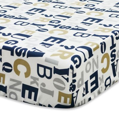True Baby Quinn Fitted Crib Sheet Buybuy Baby