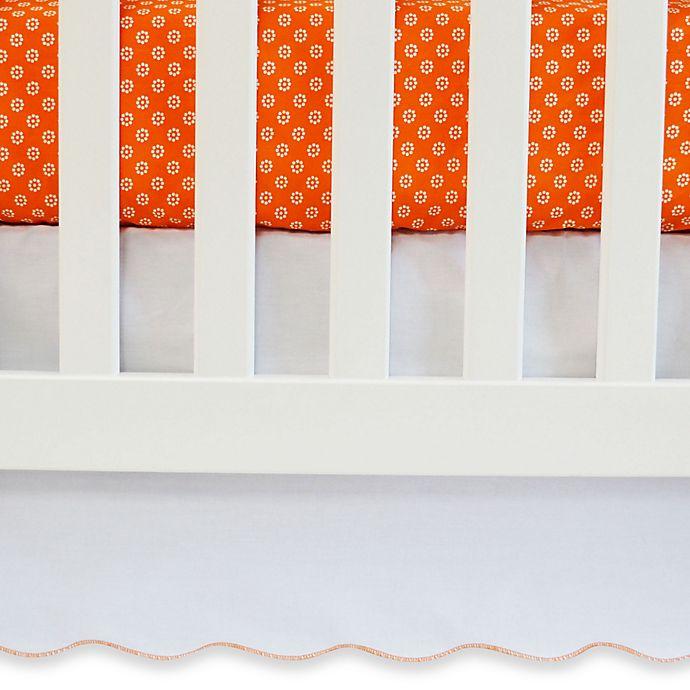 Alternate image 1 for Oliver B White Crib Skirt with Trim