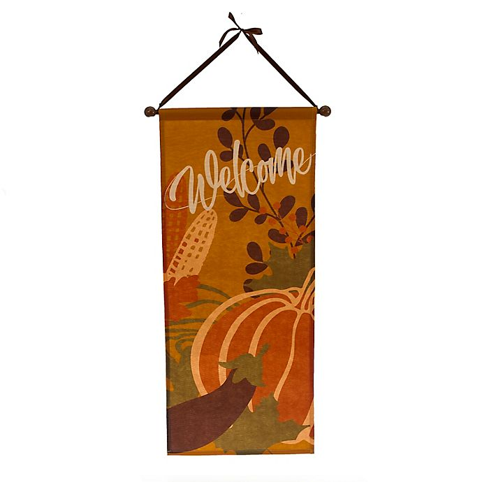 Alternate image 1 for 28-Inch Thanksgiving Canvas Wall Hanger