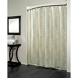 Forest Fabric Metallic Print Shower Curtain