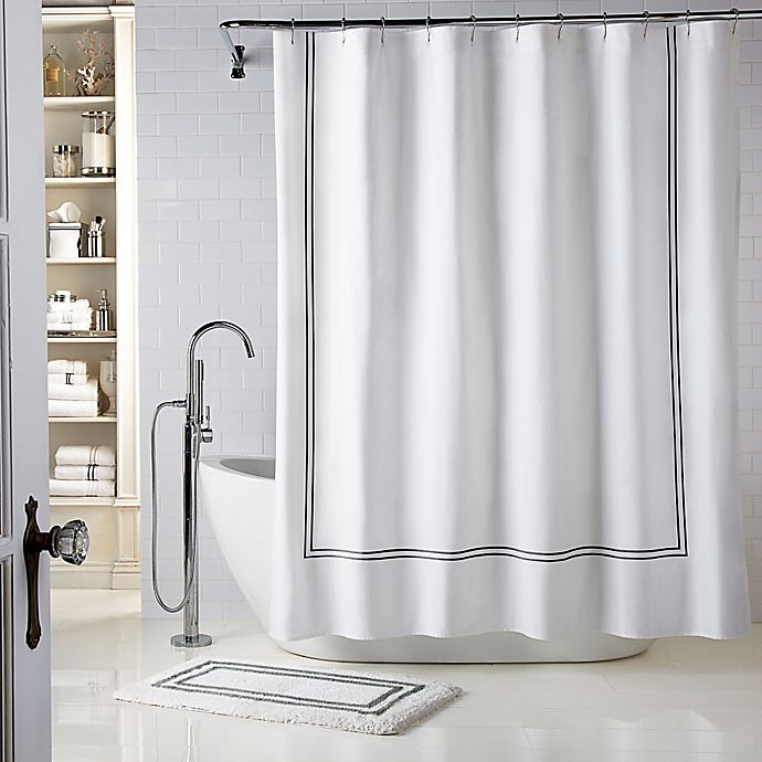 Alternate image 1 for Wamsutta® Baratta Stitch Shower Curtain
