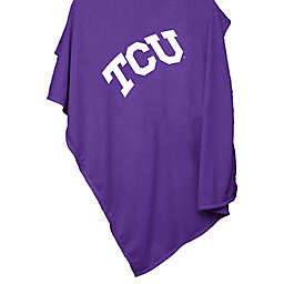 Texas Christian University 54-Inch x 84-Inch Sweatshirt Throw Blanket