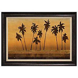 Sunset Palms II Framed Art