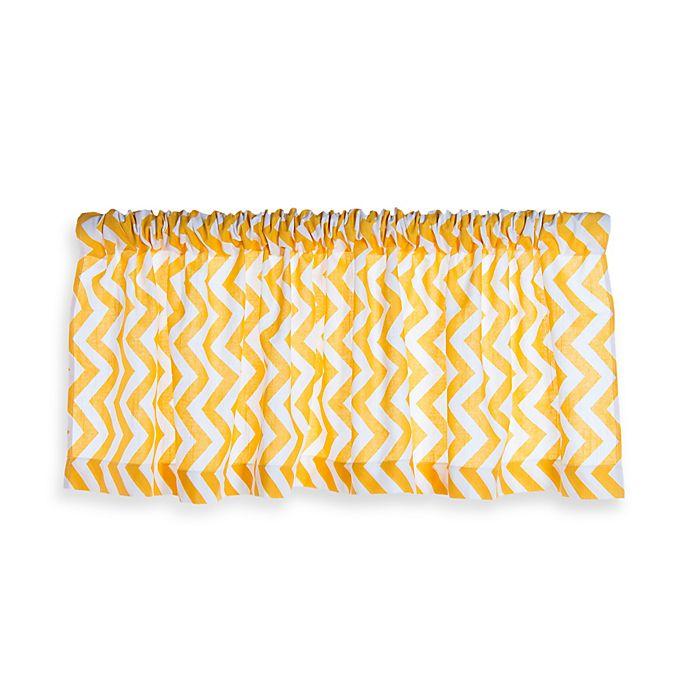 Alternate image 1 for Glenna Jean Swizzle Window Valance in Yellow