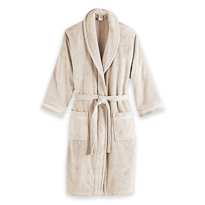 Alternate image 1 for Frette at Home Size Small/Medium Unisex Milano Terry Bathrobe in Ivory