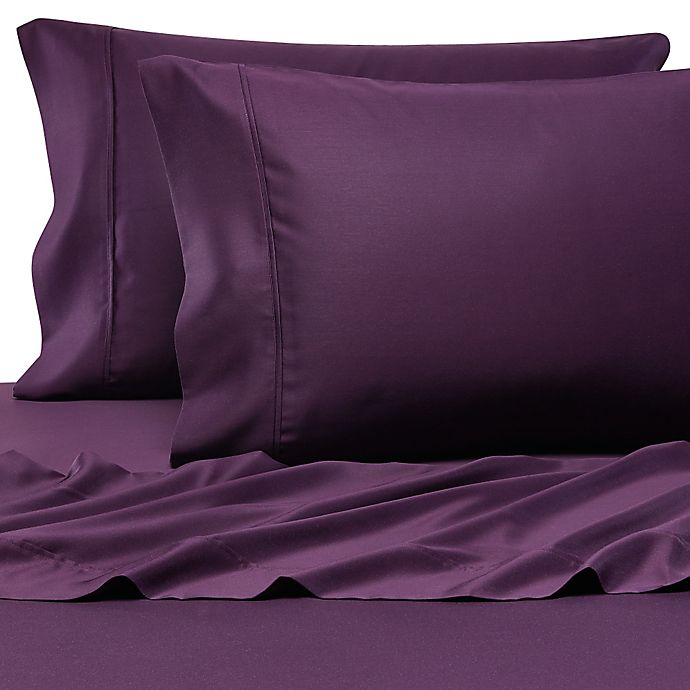 Alternate image 1 for Pure Beech® 100% Modal Sateen Twin Sheet Set in Plum