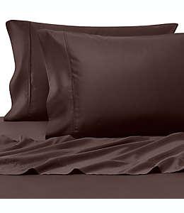 Set de sábanas queen Pure Beech® 100% tela modal satinada en chocolate