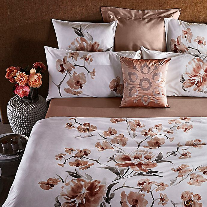 Alternate image 1 for Frette At Home Malone Duvet Cover in Pink