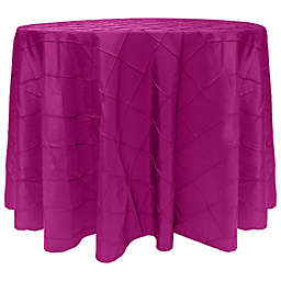 Ultimate Textile Bombay Diamond Stitched 90-Inch Round Tablecloth in Raspberry