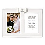 Grasslands Road® 2-Photo 5-Inch x 7-Inch Porcelain Wedding Picture Frame with Resin Bow