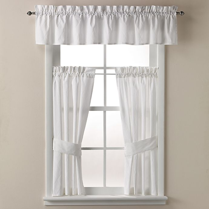 Alternate image 1 for Wamsutta® Milano 70-Inch x 14-Inch Bath Window Curtain Valance