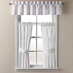 Wamsutta® Regency Bath Window Curtain Panel and Valance in White